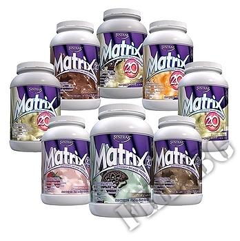 Съдържание » Дозировка » Прием » Как се пие »  Matrix 2.0 - Bananas & Cream Syntrax » Syntrax » Протеинова матрица