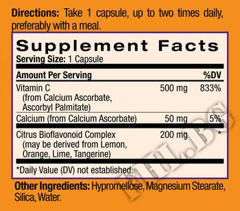 Съдържание » Дозировка » Прием » Как се пие » Easy-C 500mg+Citrus Bioflavonoids 120caps » Natrol » Витамин C