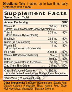 Съдържание » Дозировка » Прием » Как се пие » Easy-C 500mg+Citrus Bios+B+Zinc » Natrol » Витамин C
