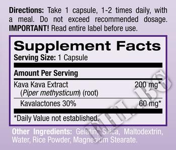 Съдържание » Дозировка » Прием » Как се пие » Kava Kava 200mg 30 caps » Natrol » Нервна Система