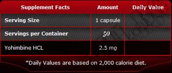 Съдържание » Дозировка » Прием » Как се пие » 100% Pure yohimbine 50 caps » Pure Nutrition » Йохимбин