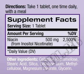 Съдържание » Дозировка » Прием » Как се пие » Niacin 500mg - Time Release  » Natrol » Витамин B3