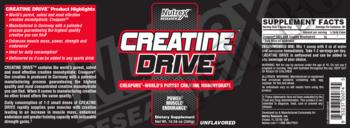 Съдържание » Дозировка » Прием » Как се пие » Creatine Drive - 300 gr » Nutrex » Креатин монохидрат