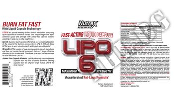 Съдържание » Дозировка » Прием » Как се пие »  LIPO 6  » Nutrex » Термогенни фетбърнъри