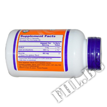 Съдържание » Дозировка » Прием » Как се пие » Licorice Root 450 mg » Now Foods » Имунна Система