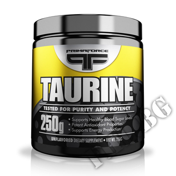 Съдържание » Дозировка » Прием » Как се пие » PF Taurine » Primaforce » Таурин