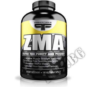 Съдържание » Дозировка » Прием » Как се пие » ZMA 180 caps. » Primaforce » Цинк-Магнезий