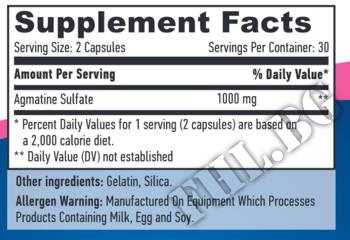 Съдържание » Дозировка » Прием » Как се пие » Agmatine Sulfate 500mg 60caps » Haya labs » Азотни бустери