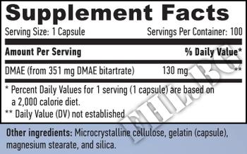 Съдържание » Дозировка » Прием » Как се пие » DMAE 351mg.  » Haya labs » Нервна Система