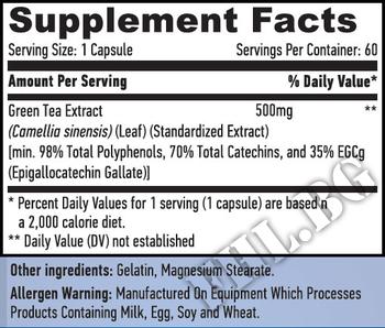 Съдържание » Дозировка » Прием » Как се пие » Зелен чай 60таб » Haya labs » Билки за отслабване