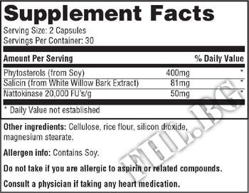 Съдържание » Дозировка » Прием » Как се пие » Heart - Cholesterol Support Phytosterols 400mg 60 Caps » Haya labs » Сърдечно-Съдова система