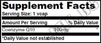 Съдържание » Дозировка » Прием » Как се пие » Co-Q10 100mg 60 Vcaps » Haya labs » Коензим Q10