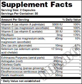 Съдържание » Дозировка » Прием » Как се пие »  Immunity Formula 60 Caps » Haya labs » Имунна Система