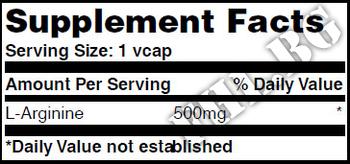 Съдържание » Дозировка » Прием » Как се пие » L-Arginine 500mg 100 Vcaps » Haya labs » Аргинин