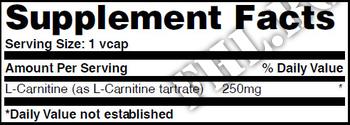 Съдържание » Дозировка » Прием » Как се пие » L-Carnitine 250mg 60 Vcaps » Haya labs » Л-карнитин