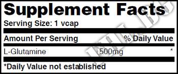 Съдържание » Дозировка » Прием » Как се пие » L-Glutamine 500mg 100 Vcaps » Haya labs » Глутамин на капсули