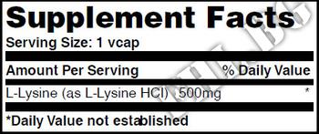 Съдържание » Дозировка » Прием » Как се пие » L-Lysine 500mg 100 Vcaps » Haya labs » Есенциални аминокиселини