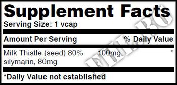 Съдържание » Дозировка » Прием » Как се пие » Milk Thistle 100mg 60 Vcaps » Haya labs » Черен Дроб