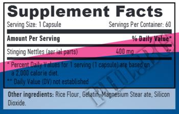Съдържание » Дозировка » Прием » Как се пие » Nettles 400mg 60 Vcaps » Haya labs » Формули за мъже