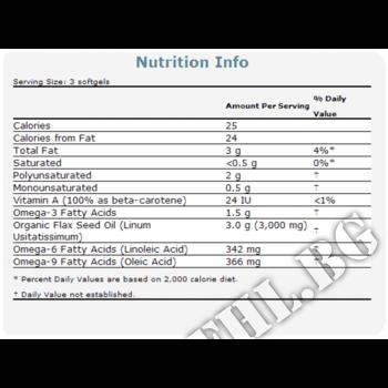 Съдържание » Дозировка » Прием » Как се пие » Flax Oil 1000 мг - 250 дражета » Now Foods » Омега 3 Ленено масло