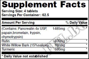 Съдържание » Дозировка » Прием » Как се пие » Pain & Inflammation Blend 250 Tabs » Haya labs » Храносмилане ензими и пробиотици