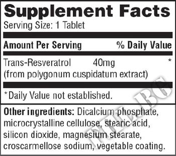 Съдържание » Дозировка » Прием » Как се пие »  Resveratrol 40mg 60 Tabs » Haya labs » Антиоксиданти