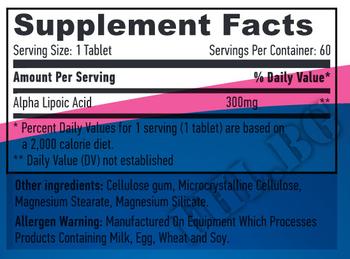 Съдържание » Дозировка » Прием » Как се пие » Sustained Release Alpha Lipoic Acid 300mg 60 Vtabs » Haya labs » Алфа липоева киселина