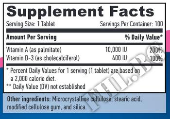 Съдържание » Дозировка » Прием » Как се пие »  Vitamin A & D 100 Softgels » Haya labs » Витамини и минерали
