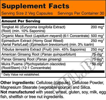 Съдържание » Дозировка » Прием » Как се пие » Test Jack 200 Extra Strength  » Now Foods » Формули за мъже