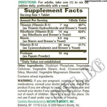 Съдържание » Дозировка » Прием » Как се пие » B-complex with B12 » Nature's Bounty » Витамин B-Complex
