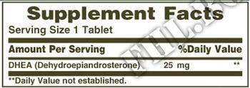 Съдържание » Дозировка » Прием » Как се пие » DHЕА 25 мг 100 таб » Nature's Bounty » ДХЕА