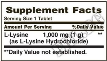 Съдържание » Дозировка » Прием » Как се пие » L-Lysine 1000 mg » Nature's Bounty » Есенциални аминокиселини