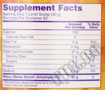 Съдържание » Дозировка » Прием » Как се пие » Waxy Maize Powder  » Now Foods » Гейнъри