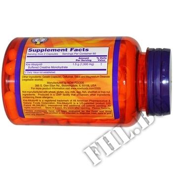 Съдържание » Дозировка » Прием » Как се пие » Kre-Alkalyn 750 мг - 120 капсули » Now Foods » Кре-алкалин