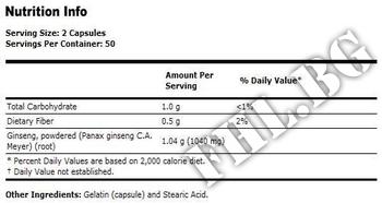 Съдържание » Дозировка » Прием » Как се пие » Panax Ginseng 520 мг  » Now Foods » Адаптогени