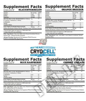 Съдържание » Дозировка » Прием » Как се пие » Cryo Cell / 30 serv. » EverBuild » Аминокиселини