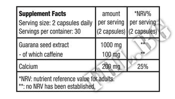 Съдържание » Дозировка » Прием » Как се пие » Guarana with Calcium » BioTech USA » Гуарана