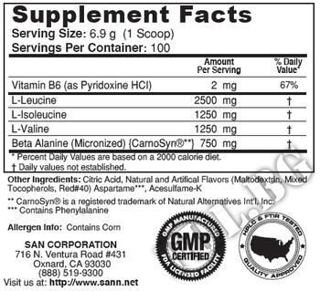 Съдържание » Дозировка » Прием » Как се пие » BCAA PRO 5000 0.690 gr » SAN » BCAA