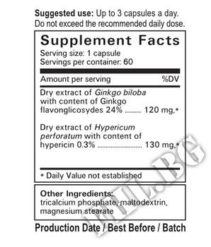 Съдържание » Дозировка » Прием » Как се пие » Ginkgo Hypericum 60 Caps » ВемоХерб » Нервна Система