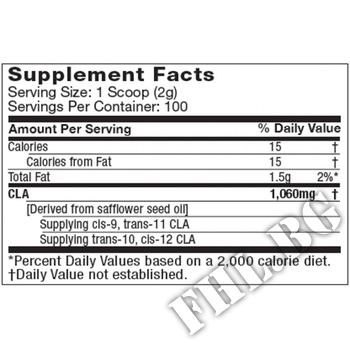 Съдържание » Дозировка » Прием » Как се пие » Essentials series Platinum Pure CLA Powder » MuscleTech » Фет блокери CLA