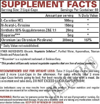 Съдържание » Дозировка » Прием » Как се пие » LIPO-6 STIM-FREE  » Nutrex » Термогенни фетбърнъри