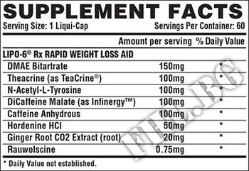 Съдържание » Дозировка » Прием » Как се пие »  LIPO-6 Rx » Nutrex » Термогенни фетбърнъри