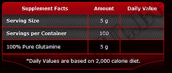 Съдържание » Дозировка » Прием » Как се пие »  100% Pure Glutamine 500гр » Pure Nutrition » Глутамин