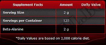 Съдържание » Дозировка » Прием » Как се пие » Beta Alanine Powder 250gr » Pure Nutrition » Бета аланин