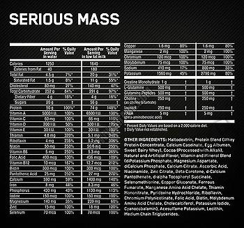 Съдържание » Дозировка » Прием » Как се пие »  Serious Mass 5450gr » Optimum Nutrition » Топ 10 Гейнъри