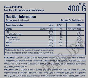 Съдържание » Дозировка » Прием » Как се пие »  Protein Pudding » Scitec » Заместител на храна