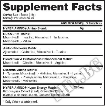 Съдържание » Дозировка » Прием » Как се пие » HYPER AMINO » Gaspari Nutrition » Аминокиселини