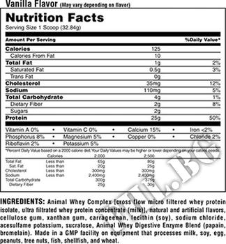 Съдържание » Дозировка » Прием » Как се пие »  Animal Whey 4 lbs » Animal Universal » Суроватъчен протеин