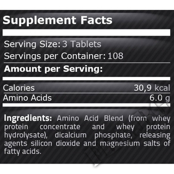 Съдържание » Дозировка » Прием » Как се пие » Amino 2000 75tab » Pure Nutrition » Аминокиселини