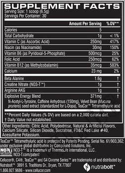 Съдържание » Дозировка » Прием » Как се пие » Cellucor C4 Extreme 30 serv » Cellucor » Азотни бустери